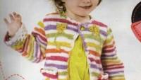 Çiçek Süslemeli Cepli Tek Düğmeli Kız Bebek Hırkası