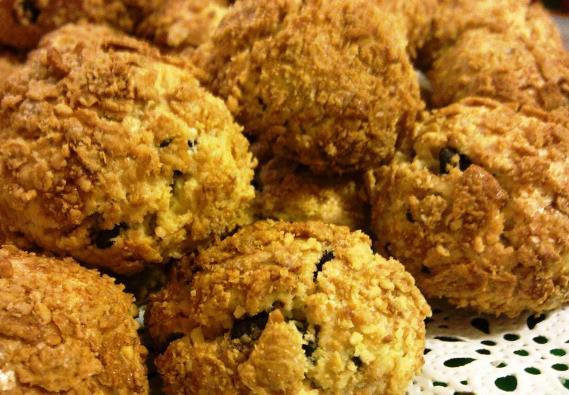 üzümlü mısır gevrekli kurabiye