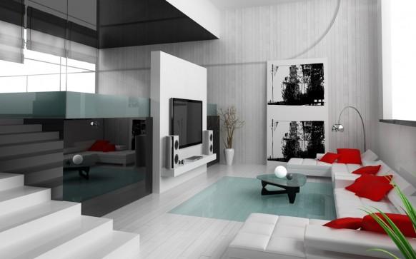 sade şık oturma odası modeli