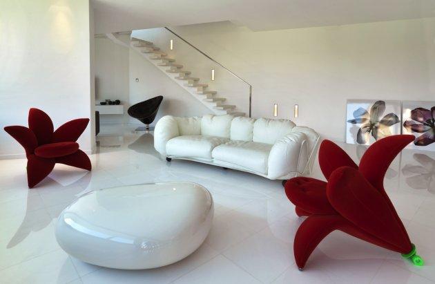 farklı oturma odası dekorasyonu