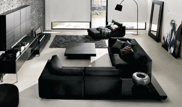 siyah oturma odası örneği