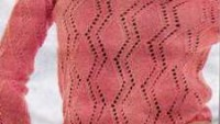 Baklava Dilimli Delikli Uzun Kollu Örgü Bluz