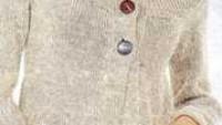Fiyonk Süslemeli Cepli Uzun  Örgü Hırka