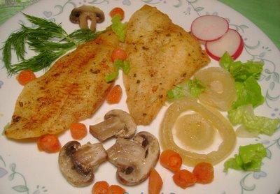 Ringa Balığı ve Mantar Salatası