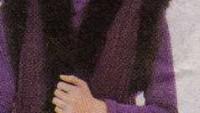 Siyah Kürklü Lastik Örgülü Uzun Bayan Yelek