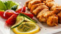 Soslu Tavuk Kebabı