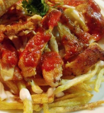 Tavuklu Çeltik kebabı