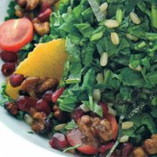 Yeşillikli Mercimek Salatısı