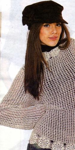 Zincir Modelli Uzun Kollu Bluz