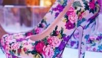 Çiçek Desenli Platformlu Ayakkabı Modelleri