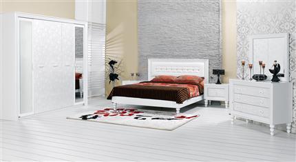 beyaz yatak odası takım modelleri