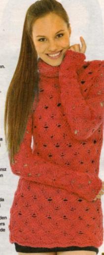 boğazlı uzun kollu kırmızı kazak modeli