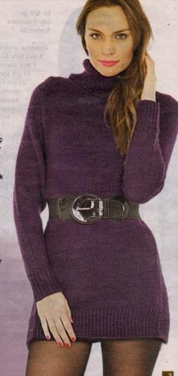 boğazlı uzun kollu mini elbise modeli