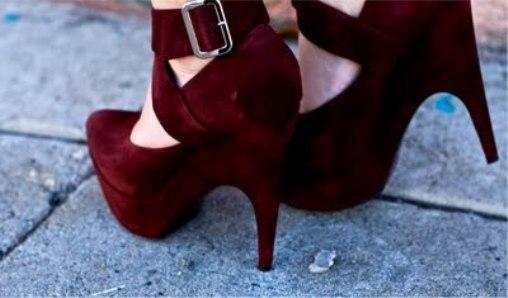 Bordo Yüksek Topuklu Yazlık Ayakkabı Modelleri