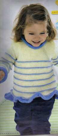 enine çizgili kız bebek kazak modeli
