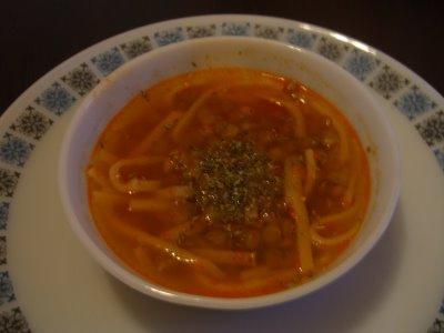 Erişteli Yeşil Mercimek Çorbası