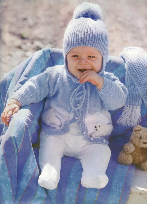 erkek bebekler için mavi ceket bere ve atkı modelleri