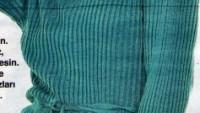 Eteği ve Kolları Fırfırlı Örgü Elbise Modeli