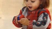Fıstık Modelli Bebek Hırkası