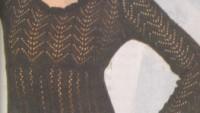 Fileli Bayan Örgü Bluz Modeli Siyah