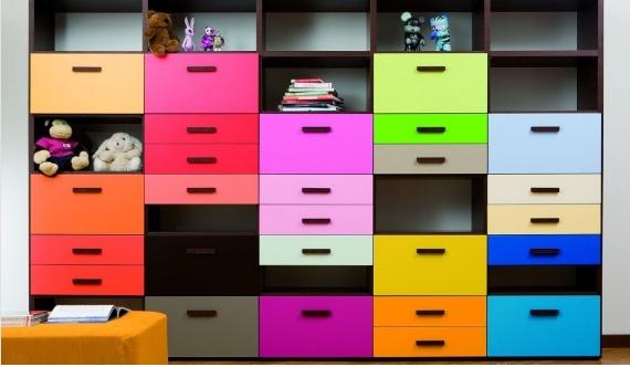 Renkli Genç Odası Dolapları