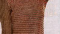 Geniş Kollu Düz Yakalı Örgü Bluz Modeli