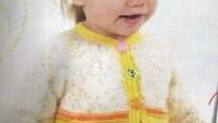 Haraşo İşlemeli Sarı Kız Bebek Hırka Yapımı