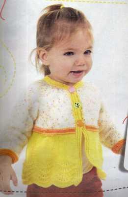 haraşo işlemeli sarı kız bebek hırka yapımı