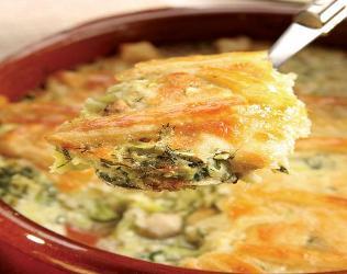 Tavukların sufle pişirin. yemek tarifleri