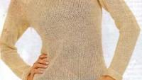 Kürk Yakalı Krem Rengi Düz Modelli Bluz