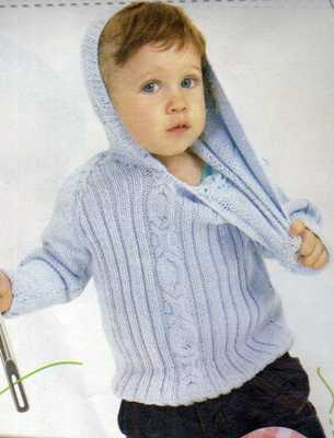 kapüşonlu mavi  erkek bebek hırkası