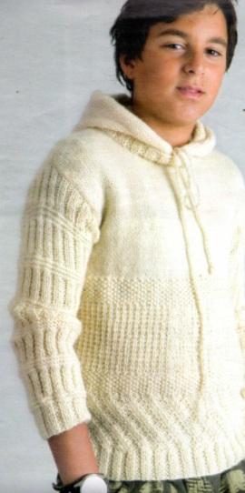 kapşonlu erkek çocuk kazak modeli