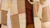 Kareli Desenli Uzun Hırka Modeli