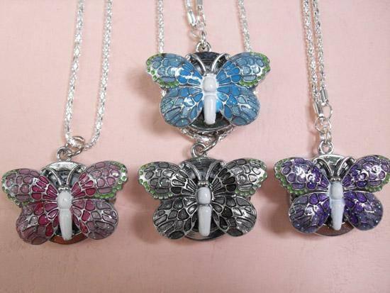 Kelebek Modelli Kolye Saatleri