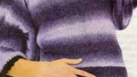 Kendinden Çizgili Yakası Oyalı Dizüstü Örgü Elbise