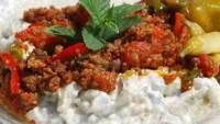 Kıymalı Közlenmiş Patlıcanlı Kebap