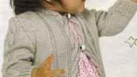 Kolları Burgu Modelli Bebek Hırkası