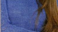 Kolları Fileli Düz Örgü Bluz Modeli