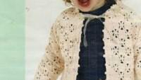 Krem Rengi Yıldız Modelli Çocuk Hırkası