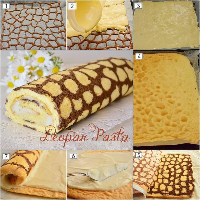 leoparlı rulo pasta