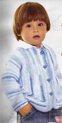 mavi ebruli ipli erkek bebek hırkası