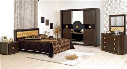 merinos kahverengi yatak odası modeli