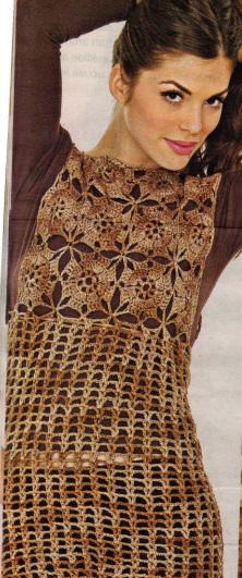 motifli fileli kolsuz tunik modeli