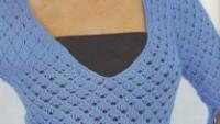 Delikli Örgü Bluz Modeli