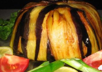 Patlıcan Çevreli  Pilavı