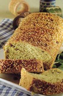 Pesto Soslu ve Fıstıklı Ekmek