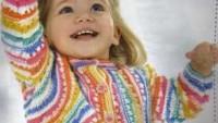 Rengarenk İpli Kız Bebek Bolero Modeli
