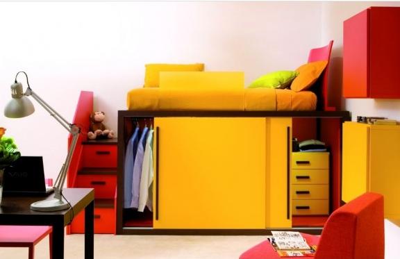 Renkli Genç Odası Dekorasyonu