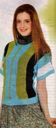 renkli yarasa kollu bluz
