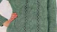 Saç Örgülü Düğmeli V Yaka Hırka Modeli